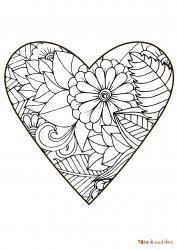 Voici le coloriage coeur #06. Un joli dessin à imprimer gratuitement plein d'amour !