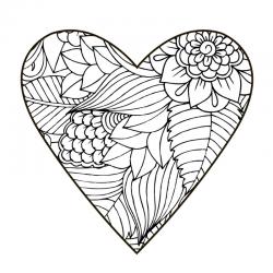 Coloriage coeur à imprimer : Imprimez un coloriage de coeur, votre enfant pourra le colorier pour lui-même ou pour l'offrir en témoignage de son amour ou de son amitié. Les coloriages de coeur peuvent aussi être imprimés pour simplement s'amuser et se div