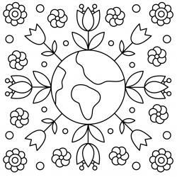 Retrouvez un coloriage sur l'écologie et imprimez un dessin gratuitement pour un atelier sur l'environnement ou pour la journée mondiale de la terre - Page 01