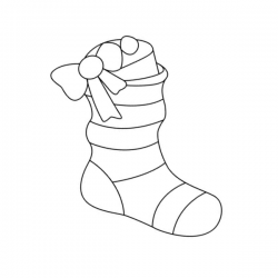 Collection de coloriages de bottes de Noël et de chaussettes de Noël à imprimer. Les bottes de Noël ou les chaussettes sont généralement suspendues devant la cheminée pour y attendre les cadeaux de Noël.