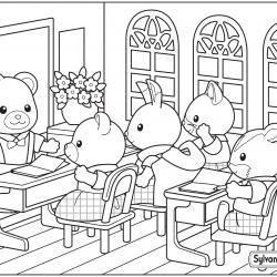 Un dessin à imprimer d'une classe de l'école de la forêt