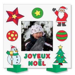 Coloriage de cadres photo Joyeux Noël