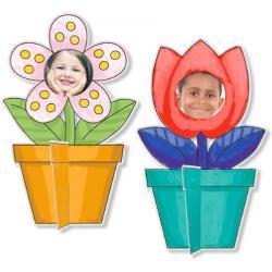 Coloriage de cadres photo pot de fleur