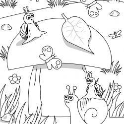 Voici un coloriage d'un champignon à imprimer gratuitement. Un joli dessin à colorier sur le thème de l'automne et de la nature. Modèle 10