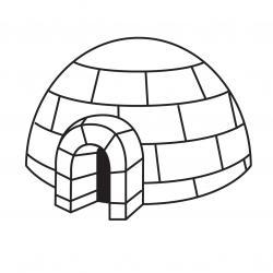 Imprimez votre coloriage d'igloo ou d'inuits gratuitement et proposez à votre enfant un joli coloriage sur le thème de la banquise et de l'hiver. Page 03