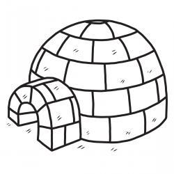 Imprimez votre coloriage d'igloo ou d'Inuits gratuitement et proposez à votre enfant un joli coloriage sur le thème de la banquise et de l'hiver. Page 05