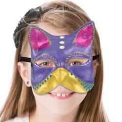 Coloriage d'un masque de chat vénitien en 3D