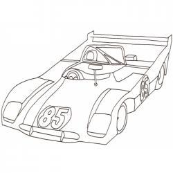 Coloriage d'une voiture de course formule 1