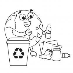 Retrouvez un coloriage sur l'écologie et imprimez un dessin gratuitement pour un atelier sur l'environnement ou pour la journée mondiale de la terre - Page 04