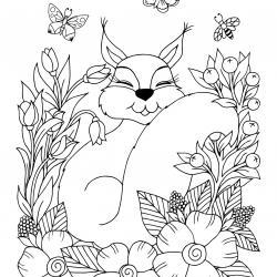 Voici un coloriage écureuil à imprimer gratuitement. Un dessin d'écureuil à imprimer pour tous les petits amoureux des animaux de la forêt. Page 10