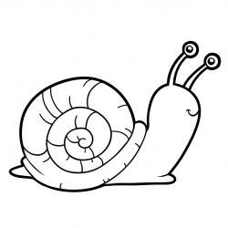 Voici un coloriage d'escargot à imprimer gratuitement. Un dessin d'escargot à imprimer pour tous les petits amoureux des animaux. Page 01