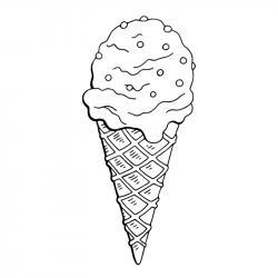 Voici un coloriage de glaces. Un dessin à imprimer pour les amoureux de la saison estivale et de cette gourmandise sucrée - Page 3