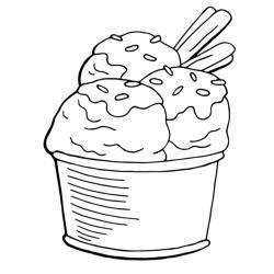 Voici un coloriage de glaces. Un dessin à imprimer pour les amoureux de la saison estivale et de cette gourmandise sucrée - Page 4