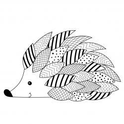 Voici un coloriage de hérisson à imprimer gratuitement. Un dessin de hérisson à imprimer pour tous les petits amoureux des animaux. Page 02