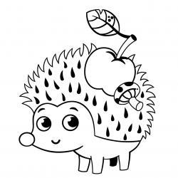 Voici un coloriage de hérisson à imprimer gratuitement. Un dessin de hérisson à imprimer pour tous les petits amoureux des animaux. Page 03