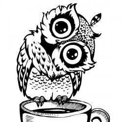 Retrouvez un coloriage de hibou ! Un dessin à imprimer gratuitement sur le thème des animaux de la forêt - Page 09