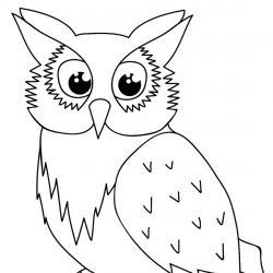Retrouvez un coloriage de hibou ! Un dessin à imprimer gratuitement sur le thème des animaux de la forêt - Page 10