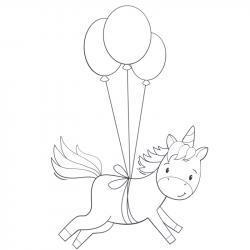 Coloriage licorne à proposer aux enfants qui aiment l'univers de cet animal fantastique - Page 7