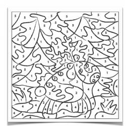 Imprimez votre coloriage magique de Noël et proposez cette activité à vos enfants. Tous nos modèles peuvent être imprimer gratuitement.