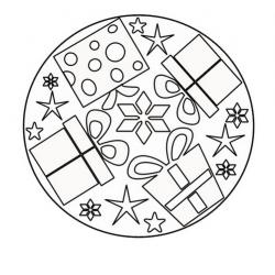 Le mandala Noël est un coloriage avec des formes symétriques avec des motifs de Noël comme un bonhomme de neige, une cloche ou une boule de Noël. Trouvez le mandala de Noël qui vous plaît et imprimez-le gratuitement sur le site.