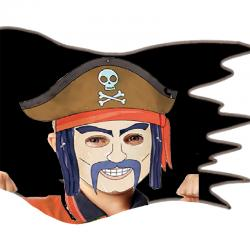 Coloriage masques de pirates
