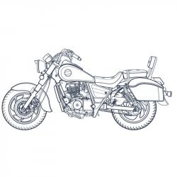 Téléchargez un et imprimez un coloriage moto gratuitement pour les enfants. Des dessins à imprimer pour les amoureux des véhicules. motorisés. Page 02