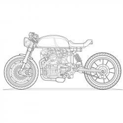 Téléchargez un et imprimez un coloriage moto gratuitement pour les enfants. Des dessins à imprimer pour les amoureux des véhicules. motorisés. Page 08