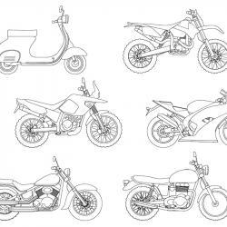 Téléchargez un et imprimez un coloriage moto gratuitement pour les enfants. Des dessins à imprimer pour les amoureux des véhicules. motorisés. Page 10