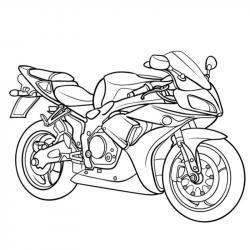 Téléchargez un et imprimez un coloriage moto gratuitement pour les enfants. Des dessins à imprimer pour les amoureux des véhicules. motorisés. Page 11