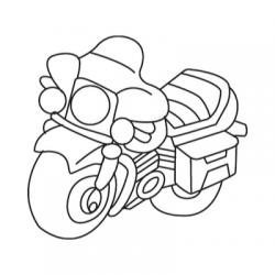 Trouvez un coloriage de moto parmi tous nos dessins de motos et scooters à imprimer. Les dessins de motos et mobylettes sont à imprimer gratuitement pour le coloriage.