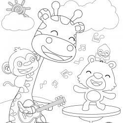 Coloriage musique : voici un dessin à imprimer sur le thème de la musique. Page 07