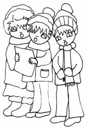 Coloriage Noël des enfants