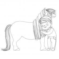 Coloriage poney : voici un dessin à imprimer avec un petit poney. Un coloriage à imprimer sur le thème des poneys - Page 7