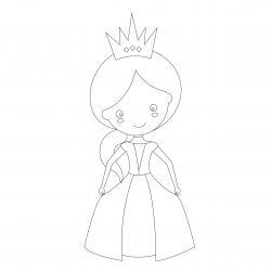Dessins de princesses à imprimer pour le coloriage des filles. Des coloriages de princesses pour rêver et s'amuser avec leur monde merveilleux ! Un coloriage que les petites princesses pourront faire
