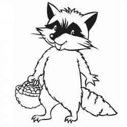 Voici un coloriage de raton laveur à imprimer gratuitement. Un dessin de raton à imprimer pour tous les petits amoureux des animaux. Page 03