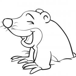 Coloriage rongeurs, coloriage animaux rongeurs