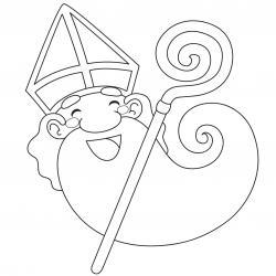 Imprimez votre coloriage de Saint Nicolas gratuitement et proposez à votre enfant de colorier un adorable St Nicolas - Page 3