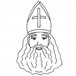 Imprimez votre coloriage de Saint Nicolas gratuitement et proposez à votre enfant de colorier un adorable St Nicolas - Page 8
