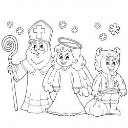 Imprimez votre coloriage de Saint Nicolas gratuitement et proposez à votre enfant de colorier un adorable St Nicolas - Page 7