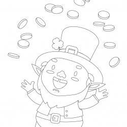 Coloriage Saint Patrick à proposer aux enfants qui aiment l'Irlande et cette fête joyeuse. Page 11