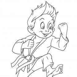 Coloriage sport : un dessin à imprimer avec des enfants sportifs. Un coloriage gratuit pour les petits amoureux du sport - Page 2