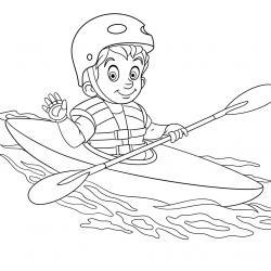Coloriage sport : un dessin à imprimer avec des enfants sportifs. Un coloriage gratuit pour les petits amoureux du sport - Page 10