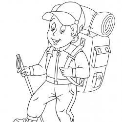 Coloriage sport : un dessin à imprimer avec des enfants sportifs. Un coloriage gratuit pour les petits amoureux du sport - Page 5