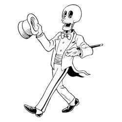 Coloriage squelettes : vous cherchez un coloriage de squelette à imprimer gratuitement ? Voici notre effroyable collection de coloriages de squelettes