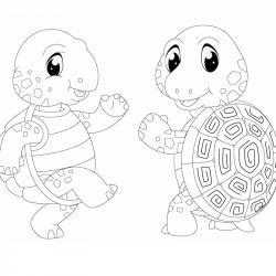 Voici un coloriage de tortue à imprimer gratuitement. Un dessin de tortue à imprimer pour tous les petits amoureux des animaux de la mer. Page 03