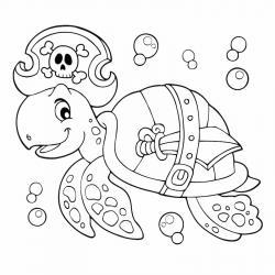 Voici un coloriage de tortue à imprimer gratuitement. Un dessin de tortue à imprimer pour tous les petits amoureux des animaux de la mer. Page 05