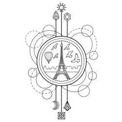 Coloriage tour Eiffel : un dessin à imprimer avec la dame de fer. Un coloriage à imprimer sur le thème de Paris et de la France - Page 07