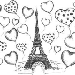 Coloriage tour Eiffel : un dessin à imprimer avec la dame de fer. Un coloriage à imprimer sur le thème de Paris et de la France - Page 09