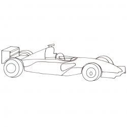 Coloriage voiture de formule 1