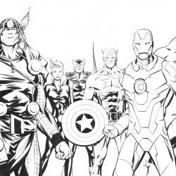 Coloriages des super héros de la serie des avengers